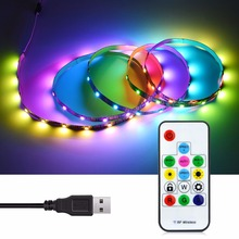 USB Charger Power Pixel LED Strip 5V RGB 5050 SMD Inner WS2812B Addressable LED Rope light Dream Color Neon Decor lamp String