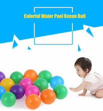 100pcs 5.5cm Colorful Ball Soft Plastic Ocean Ball Funny Baby Kid Swim Pit Toy Water Pool Ocean Wave Ball For Baby Outdoor funny(China)