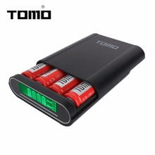 TOMO T4 Portable 4 x 18650 Li-ion Battery DIY Power Bank Dual Output Intelligent Mobile Power Bank Without Battery
