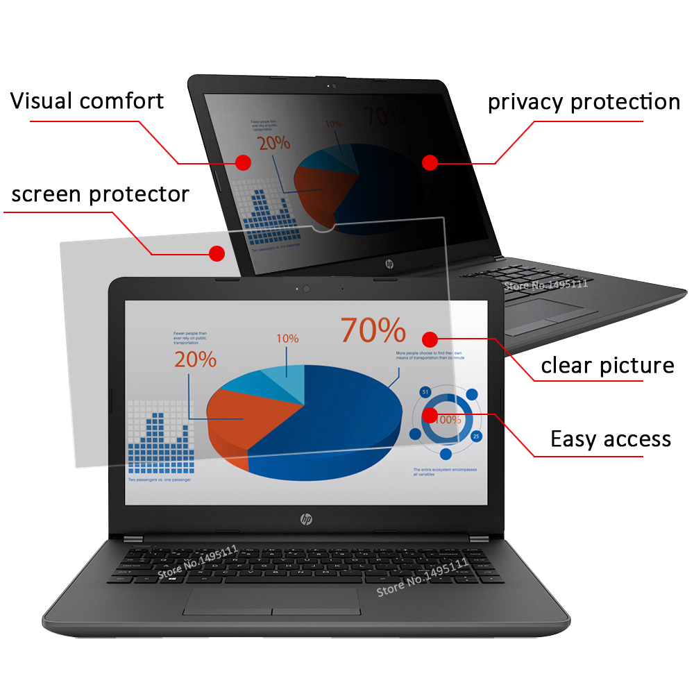 15.6 inch (344mm*194mm) Privacy Filter For 16:9 Laptop Notebook Anti-glare Screen protector Protective film 4