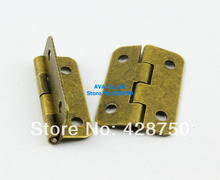 40 Pieces Antique Brass Jewelry Box Hinge Small Hinge 30x21mm with Screws
