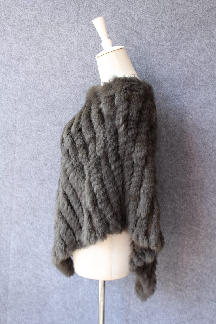 natural knitted rabbit fur scarf wraps (5)