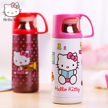 Hello Kitty Vacuum Thermos Cup Cartoon Cup With Lid Water Kettle Kids Insulated Flasks Mug Thermo Flasks Drinkware Bottle