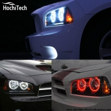 for Dodge Charger RGB LED headlight halo angel eyes kit car styling accessories 2005 2006 2007 2008 2009 2010