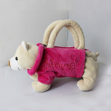 Plush Bags for Kids Stuffed Animal Toys Bags Handbag for Girls Kids Gifts Dogs Bags 3D bags for Children H783