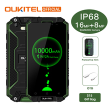 "Oukitel K10000 Max IP68 Waterproof Dustproof Shockproof MTK6753 3G RAM 32G ROM 10000mAh 5.5"" FHD Fast Charge Touch ID Smartphone"