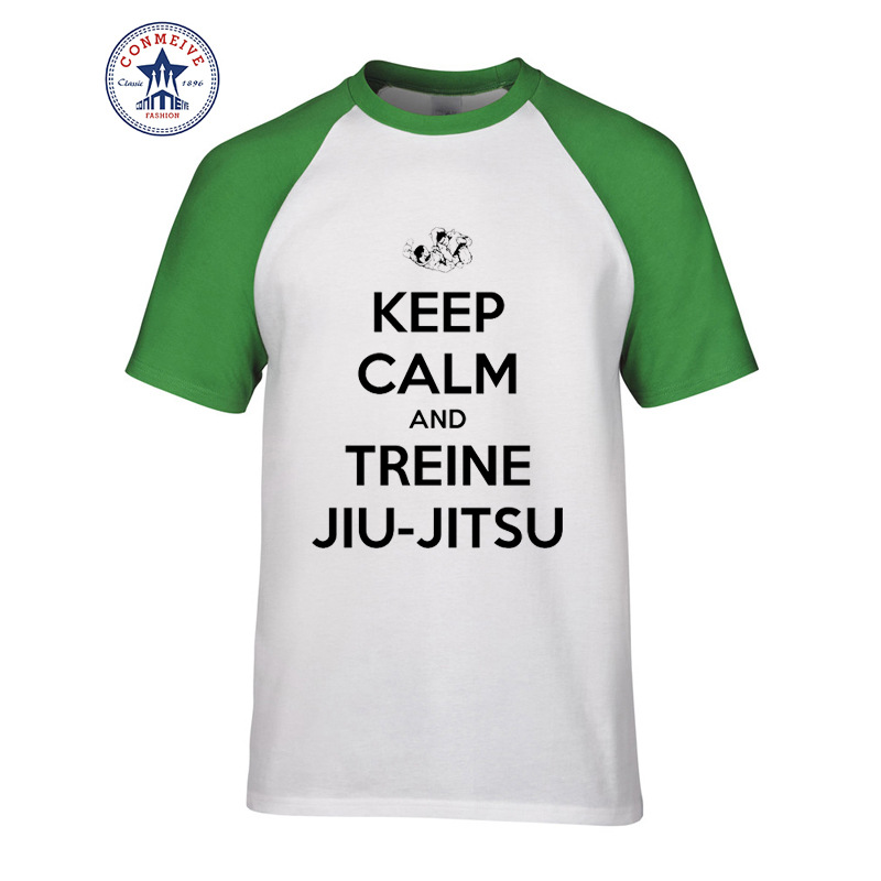 2017 Hot Selling Funny KEEP CALM AND TREINE JIU-JITSU Cotton ...