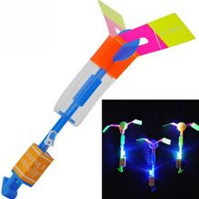 Free ShippingBeautiful Neon Led Light Amazing Elastic Powered LED Arrow Helicopter Shining Rocket Flash Copter Arrow Helicopter