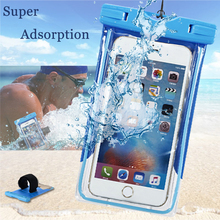 Buy Waterproof Protection Case iPhone 8 Underwater Case Dry Bag Clear PVC Phone Cover Cases iPhone 8 Plus Protective Fundas for $4.10 in AliExpress store