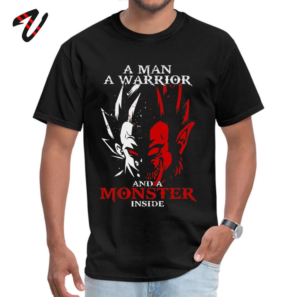 Normal 2018 Popular Student T Shirt Round Collar Short Sleeve 100% Cotton T Shirt Design T Shirt Top Quality Funny Dragonball z Goku and Vegeta Tshirt - Monster Ape Saiyan Dragon Ball  -10904 black