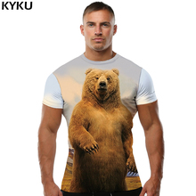 Buy KYKU Bear T shirt Russia shirts Arctic Tshirt Clothing T-shirt Tees Men Mens Casual Slim Homme for $4.77 in AliExpress store