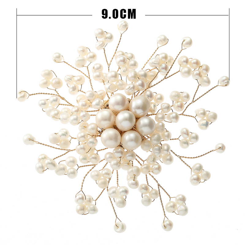 TDQUEEN Luxury Freshwater Pearl Brooches for Women High Quality Natural Pearl Baroque Brooch Hijab Wedding Safty Pin Jewelry SIZE