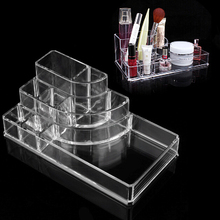 Crystal Makeup Organizer Jewelry Container Clear Acrylic Make Up Brush Cosmetic Holder Display Sundry Cabinet Storage Box Case