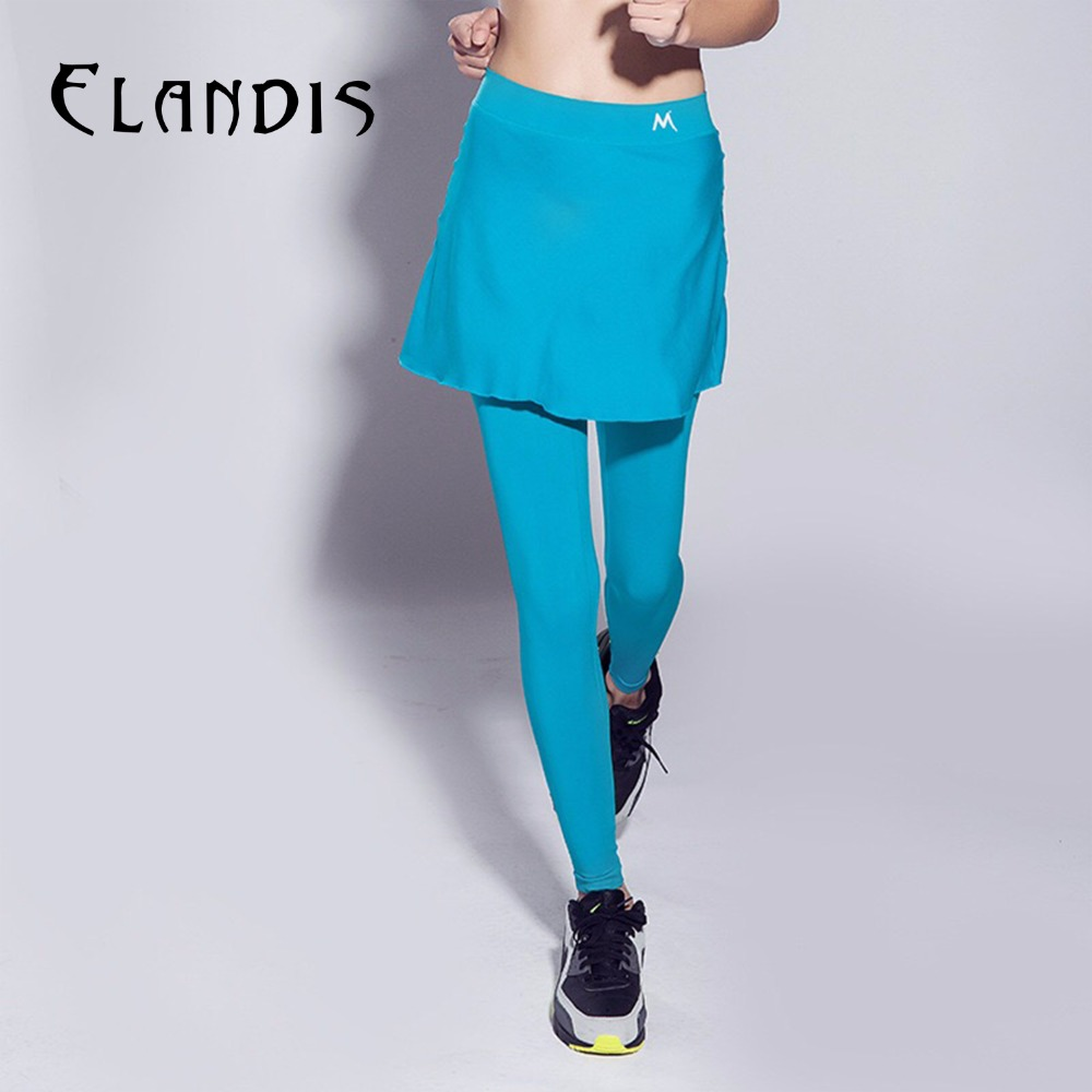 FLANDIS Yoga Pants High Waist Women Sport Leggings Tight Fitness Quick drying Divided Skirt Fake Workout Two Pieces<br>