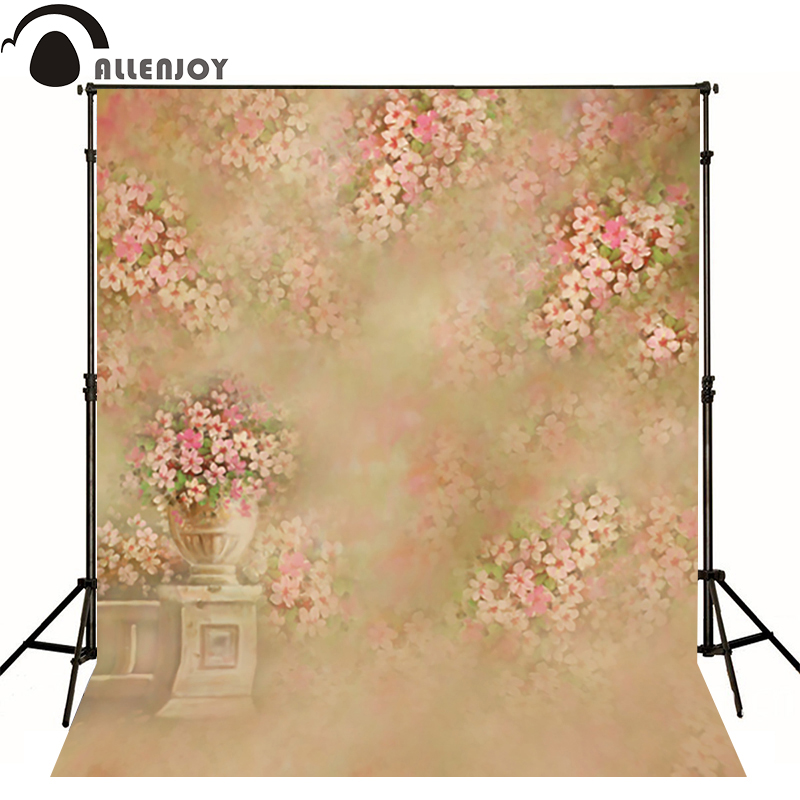 Allenjoy photography backdrops Hazy yellow flower beds pink flowers photo background newborn baby photocall romantic<br><br>Aliexpress