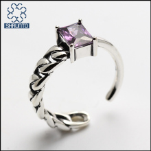 Women's fashion jewelry Thailand silver zircon ring wholesale