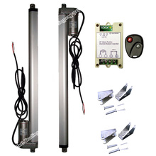 "Set of 2PCS 450mm/18"" Inch Stroke DC 12V Linear Actuators & Wireless Remote Control Kits & Brackets-1500N/330lbs Load DC Motor(China)"