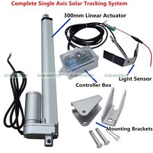1KW-12V Single Axis Solar Tracker - System Kit 12''Linear Actuator +Controller