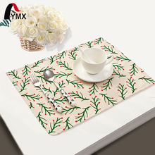 Mix 4 Style Table Napkins Coral Tree Printed Polyester Cloth Dinner Napkins Serviette de Table Coton Wholesale Tea Towels 2017(China)