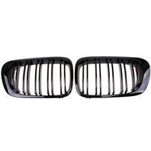 Car Racing Grilles Gloss Black Grilles Fit for BMW 3-Series E46 Cabrio 2000-2003 Pre-facelift Double Lines Hood Grille Vent