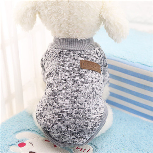 Classic Winter Warm Dog Clothes Puppy Pet Cat Jacket Coat Fashion Soft Sweater Clothing For Chihuahua Yorkie 9 Colors XS-2XL(China)