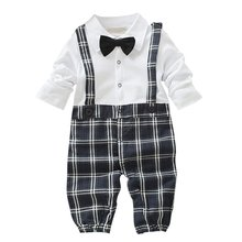 Toddler Baby Boys Dress Gentleman Romper Jumpsuit Bodysuit Clothes Outfit