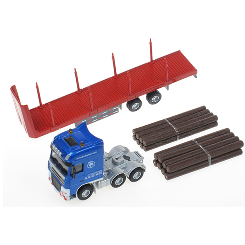 Scale 1:50 Log Transporter Truck Miniature Replica Toy Model Lorry Vehicle Collectors(China (Mainland))