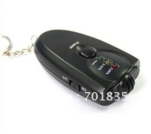 Free shipping! 10pcs/lot 3 LED Keychain Digita breath alcohol tester with Flashlight