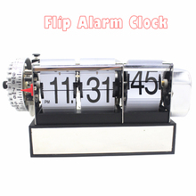 1 Piece 2 Colors Automatic Flip Desk Alarm Clock For Art Home and Office Decorative Mini Table Clock(China)