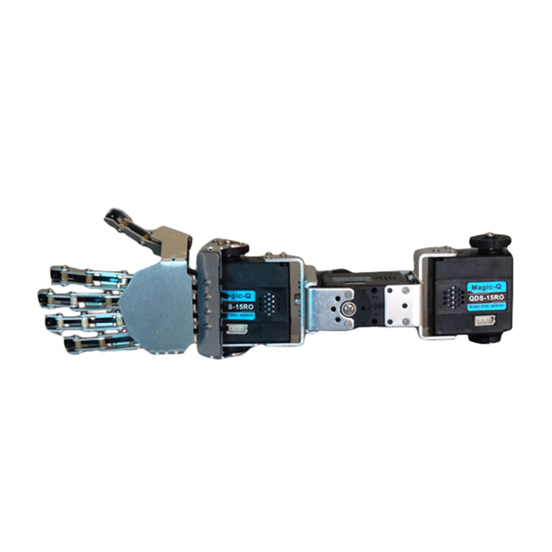 Newest QDS1603 3DOF Robot Five Fingers Metal Manipulator Arm Left and Right Hand<br><br>Aliexpress