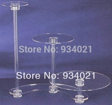 Unique Beautiful 3 Tier Acrylic Cake Stands For Wedding Birhtday Cupcake Display Stand