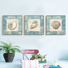 Modern shell Ocean Star picture art Painting Wall Pictures room Decorative Painting Bright Nordic Poster Canvas Painting