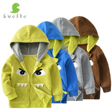 SVELTE Children Boys' Funny Cartoon Pattern Fleece Hoody Jacket Hooded Outerwear Coat Park for 2-7 Y Kids Sporty Tops Clothing(China)