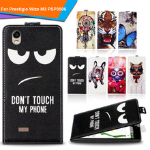 Newest  For Prestigio Wize M3 PSP3506 Factory Price Luxury Cool Printed Cartoon 100% Special PU Leather Flip case cover,Gift