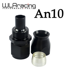 WLRING STORE- BLACK High Quality PTEF AN10 AN-10 Straight REUSABLE SWIVEL TEFLON HOSE END FITTING AN10 WLR-SL6000-10-021