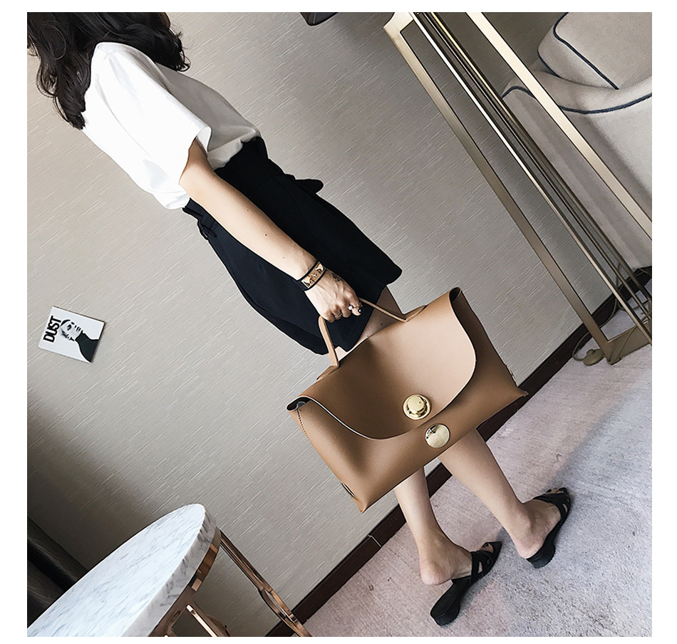 Fashion Luxury Lock Women Handbags High Quality Pu Leather Bags Handbags Women Famous Brands Big Capacity Ladies Hand Bags Sac 5
