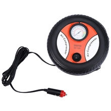 Mini DC 12V Electric Car Inflatable Pump Pumping Air Tire Pumps Tyre Pressure Monitor Compressor Portable for Bike Motor Ball