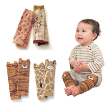 4Pair/lot Kids Leg Warmers Baby Cartoon Animal Lmage Knee Pads Cotton Children Anti-mosquito Boy Girls Socks For 0-5 Year(China)