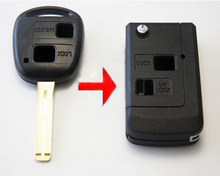 2 Buttons Modified Folding Flip Remote Key Shell  For Lexus Blanks Uncut Blade Car Key Case Blanks