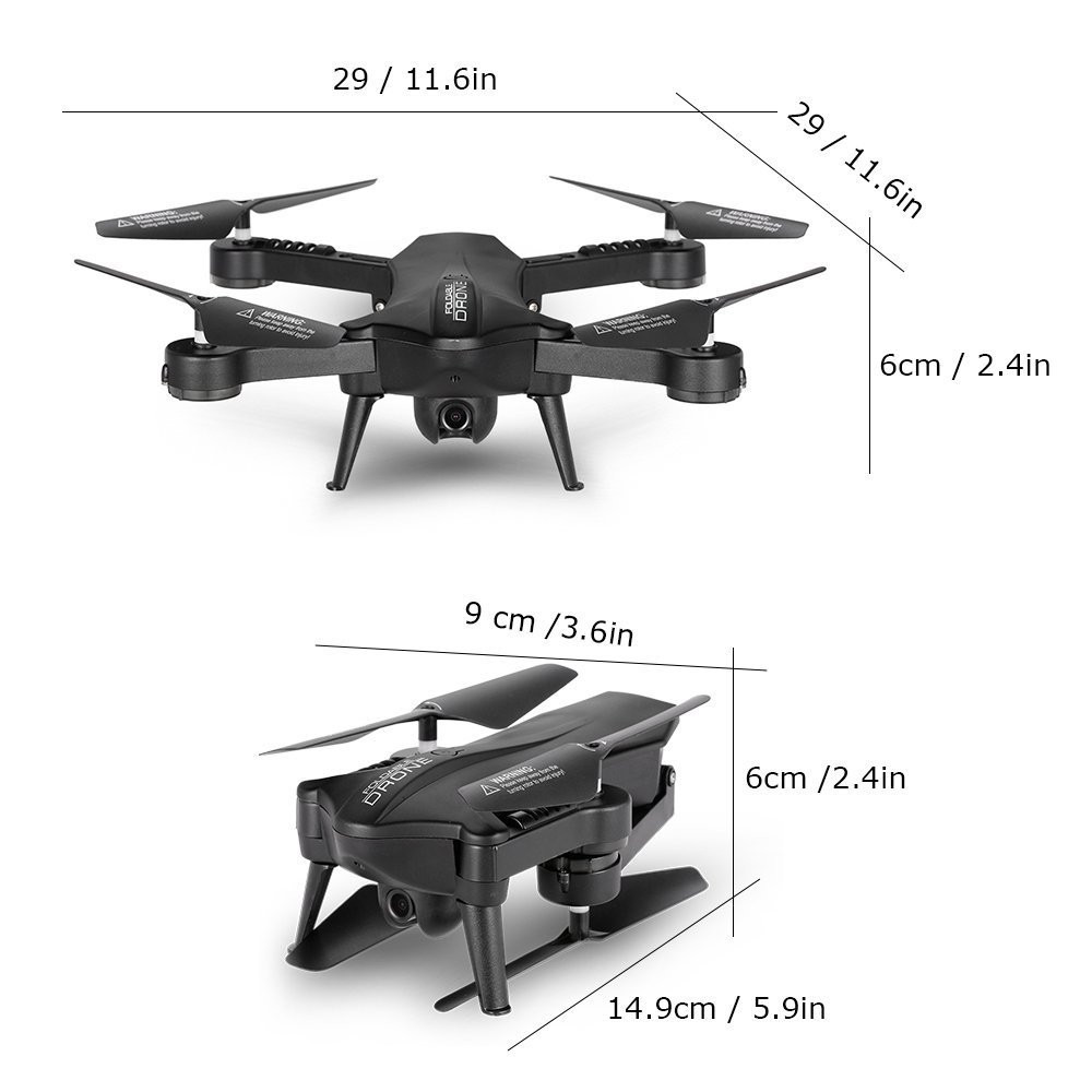 2.4G 6-Axis RC Quadcopter Drone FPV WiFi 2.0MP FOV Real-time View Foldable X# dropship 1128