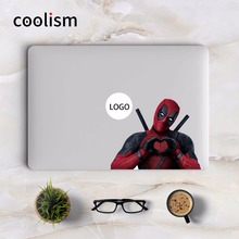 Deadpool Heart Shape Gesture Laptop Sticker for Apple MacBook Sticker Air 13 Pro Retina 11 12 15 inch Mac Mi Book Colorful Decal(China)