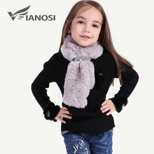 VIANOSI Fashion Children Scarf Winter Warm Faux Fur Scarves kids Girl Scarf CH006(China)