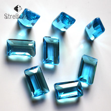 Fashion jewelry stone 8x14mm fancy cube faceted glass crystal stone no hole necklace accessories for fashion DIY