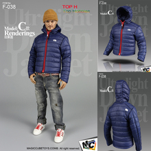 "*Magic Cube Ultralight Down Jacket Set Blue for 12"" Action Figures MC-F038C Model"
