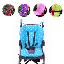 Cotton Soft Thick Baby Stroller Seat Pushchair Cushion Infant Cute White Dot Pram Cushion Accessories Baby Car Seat Cushion