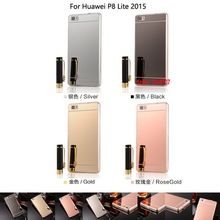 Vintage Deluxe Cheap Best Soft TPU Electroplating Mirror Phone Case For Huawei Huawe P8 Lite 2015 Mini Rose Black Silver Gold