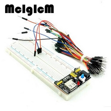 McIgIcM MB102 830 Point Solderless PCB Breadboard with 65pcs Jump Cable Wires and Power starter kit Free shipping