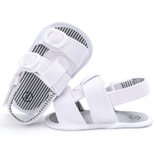 2017 Hot sale New Baby Summer Flat Sandals White Boys Girls sandals Sneakers  Infant Fabric  Anti-slip shoes