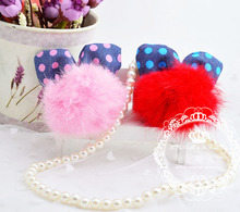 1 piece Cute Fur Hair Clip Hat Hairpin Barrette Felt Party Favor Head Wear