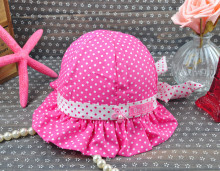 Baby Cap Lovely Girl's Summer Hats Baby Dot Hat Children Caps Summer Fashion Kid's Cap Sunhat Free Shipping
